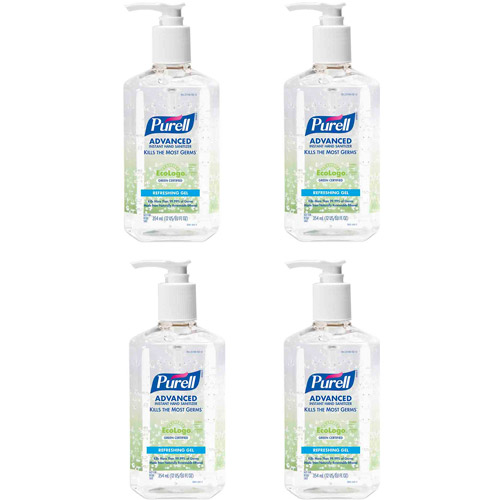 PURELL Advanced Green Certified Refreshing Gel Instant Hand Sanitizer, 12 fl oz, 4 count