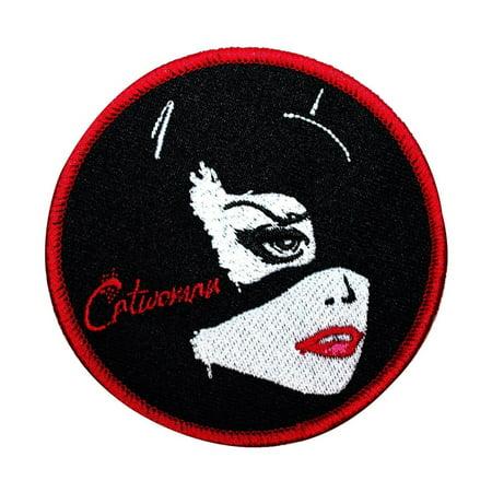 Pop Art Catwoman Patch Batman Rogues Villain DC Comic Girls Iron-On Applique - Batman Girl Villains