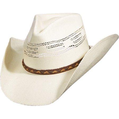 Scala Paper Braid - Men's Scala ST84 Pinch Front Cowboy Hat