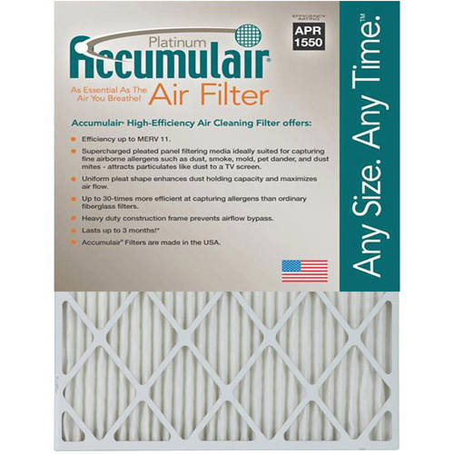 "Accumulair Platinum 1"" Air Filter, 4-Pack"