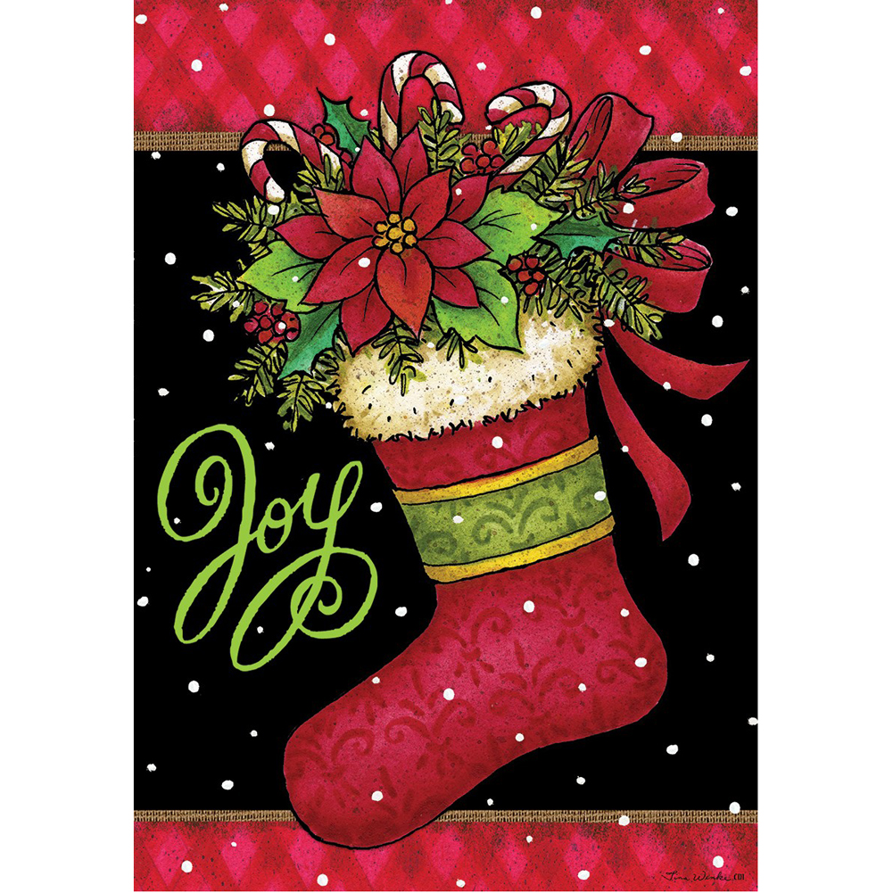 Custom Decor Joy Stocking-FM