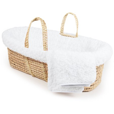 Tadpoles Twisted Fur Moses Basket and Bedding Set,