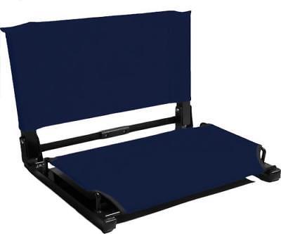 "Stadium Chair Bleacher Seat (WSC1), DELUXE MODEL (3"" wider), Navy by"