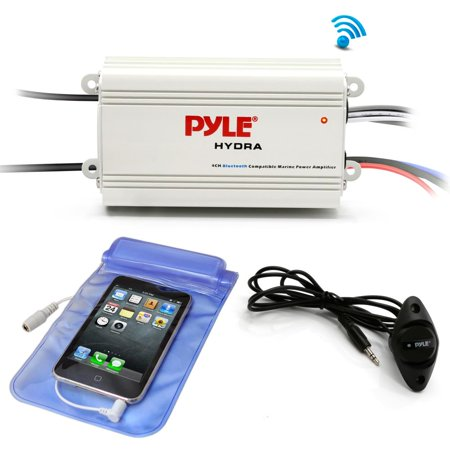 - Pyle PLMRMB4CW - Bluetooth Marine Amplifier Kit, 4-Ch. Waterproof Audio Power Amp System