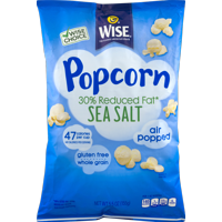 Wise Foods 30% Reduced Fat Sea Salt Air Popped Popcorn- 5.5 oz Bag (3 Bags)