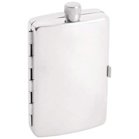 Flask Cigarette Holder - Maxam® 2.5oz Stainless Steel Flask with Cigarette Holder