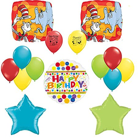 Dr Seuss Party Supplies Cat In The Hat Birthday Balloon Set
