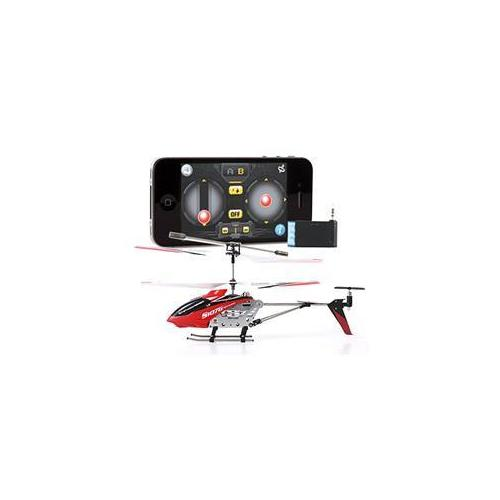 JP Commerce S107G-Red-Icopter Iphone Ipad Controlled 3 5ch Syma S107G Mini RC I-Helicopter Metal Series with Gyro - Red