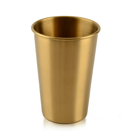 Stainless Steel Cups 500ml Pint Drinking Cups Metal Drinking Glass Single Wall Water Cup for Kids and Adults