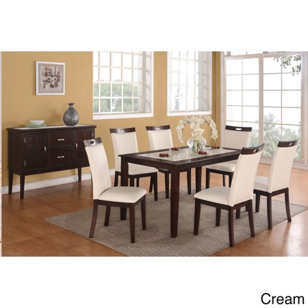 CDECOR Rosi Bicast Leather Dining Chairs Set Of 6