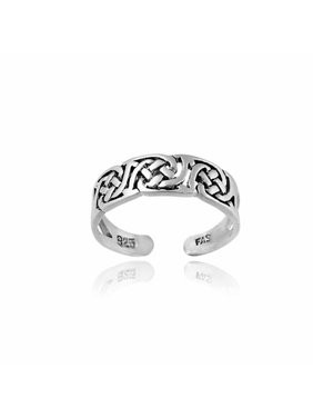 Irish Celtic Sterling Silver Knot Toe Ring
