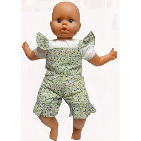 Doll Clothes Superstore Wild Flower Print Short Set Fits 18-21 Inch Baby Dolls Zebra Print Baby Doll