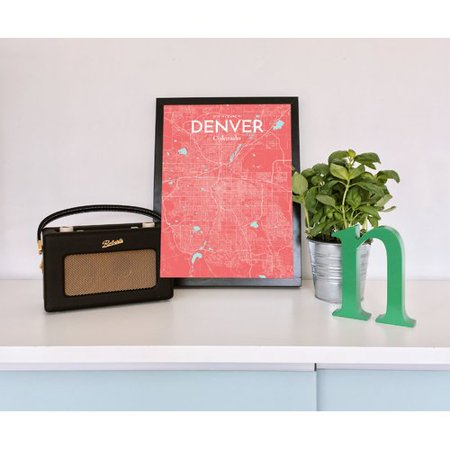 Pinks Denver (Wrought Studio 'Denver City Map' Graphic Art Print Poster in)
