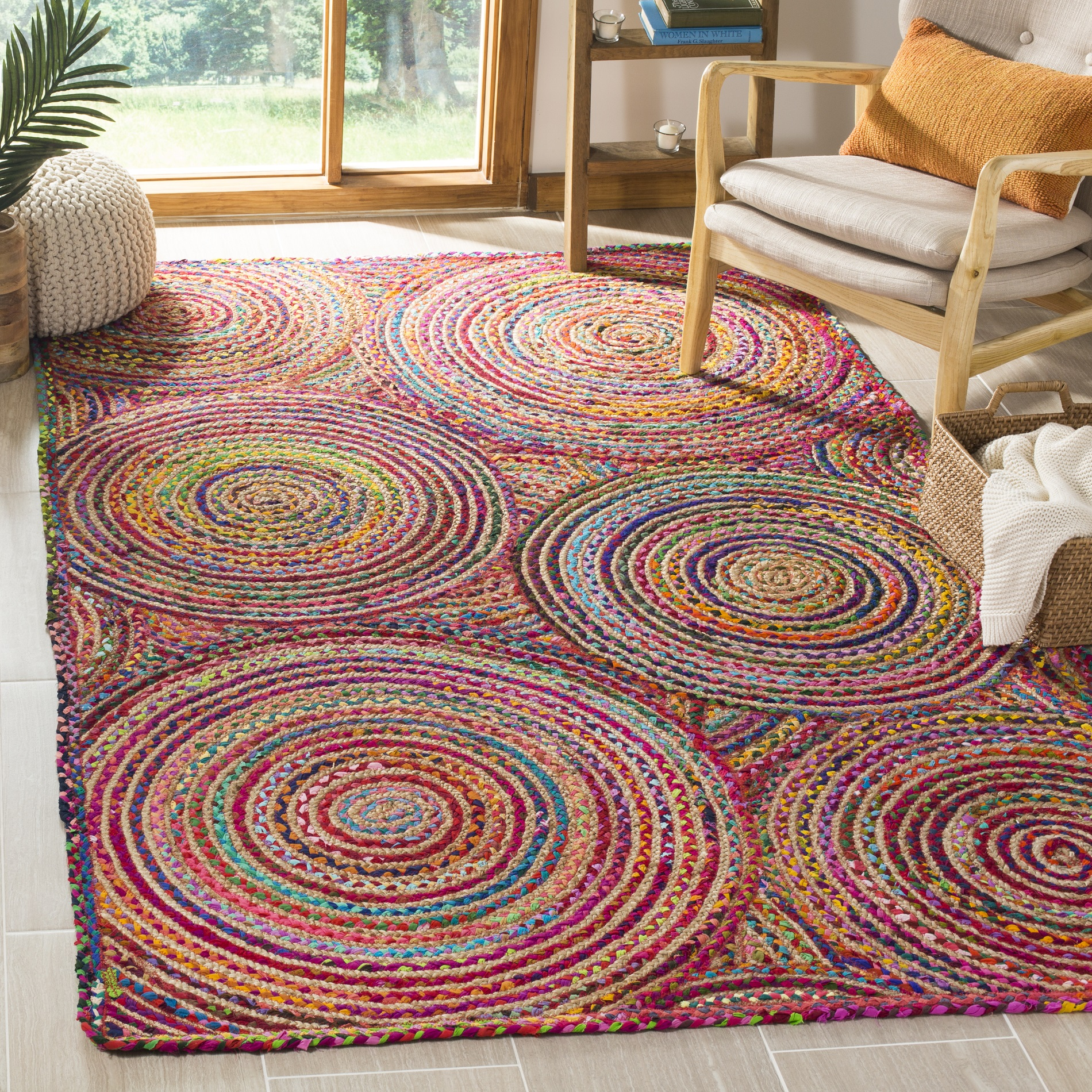 Safavieh Cape Cod Bora Geometric Circles Area Rug or Runner