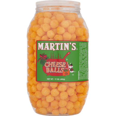 Martin's Cheese Balls Real Cheddar Cheese Flavored (Halloween Cheese Ball Face)