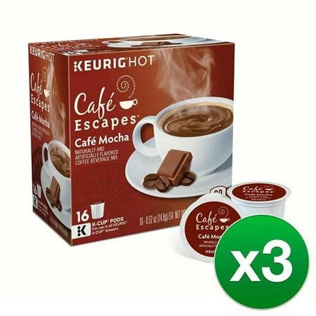 Mocha Cafe (Cafe Escapes Cafe Mocha, Single Serve Coffee K-Cup Pod, Flavored Coffee,)