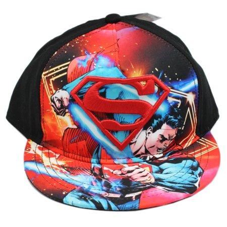 DC Comics Superman S Symbol and Graphic Snapback Adjustable (Dc Stretch Cap)
