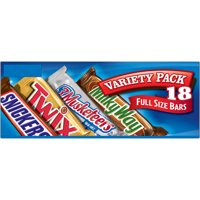 Mars Wrigley Variety Pack Milk Chocolate Candy Bars | Contains 18 Full Size Bars, 33.31 Oz. | MILKY WAY, TWIX, SNICKERS, 3 MUSKETEERS