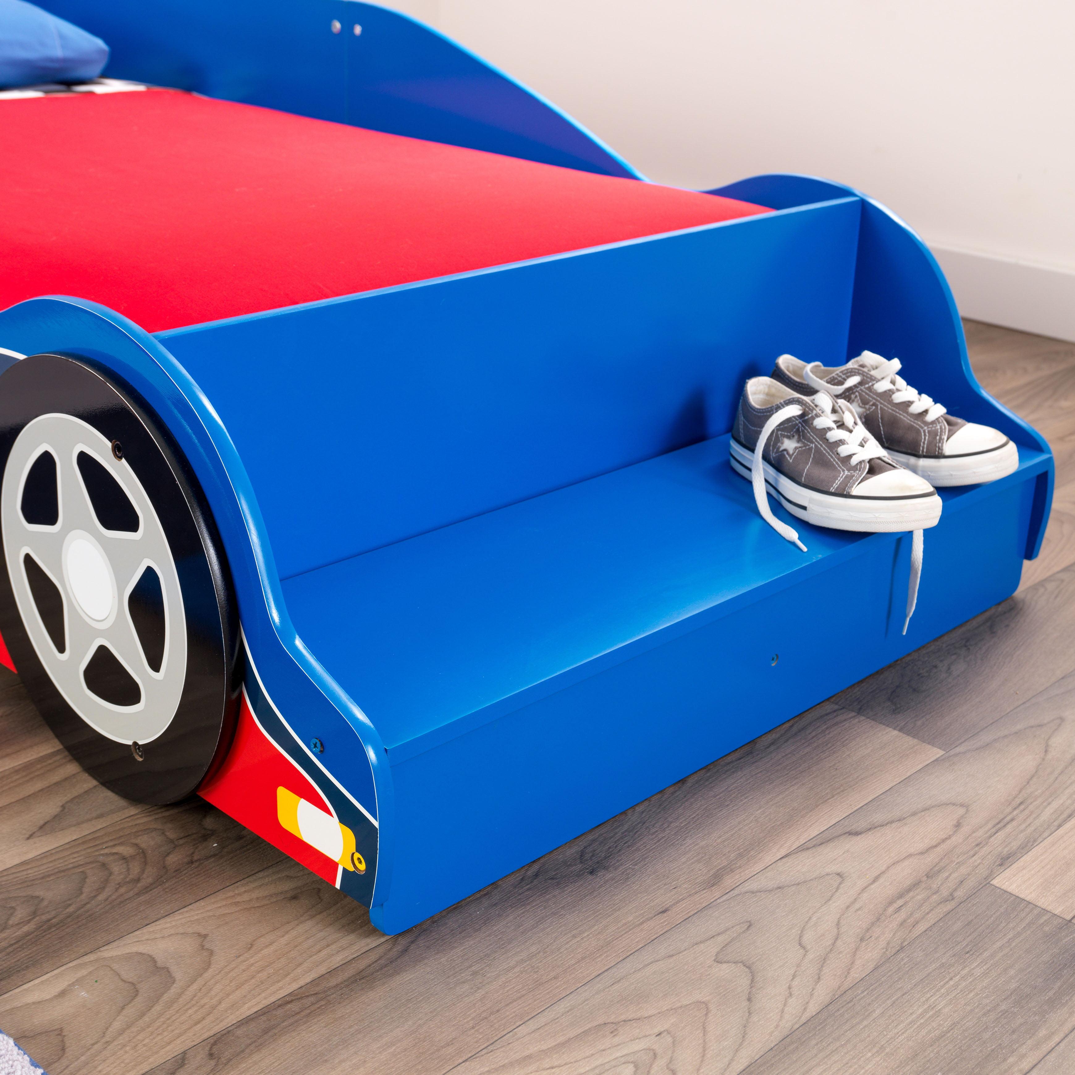 KidKraft Race Car Toddler Bed, Blue and Red - Walmart.com