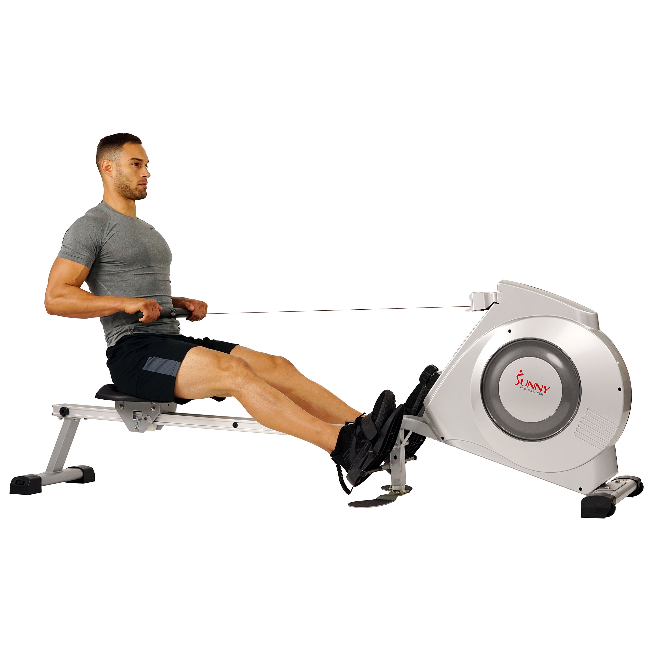 Sunny Health & Fitness SF-RW5612 Dual Function Rowing Machine Rowers