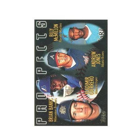 1995 Topps #435 Vladimir Guerrero / Andruw Jones Prospects Rookie Card Andruw Jones Autographed Baseball