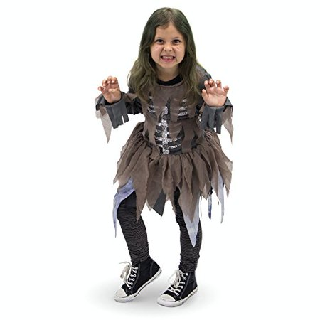 Boo! Inc. Hungry Zombie Children's Girl Halloween Dress Up Roleplay Costume - Zombie Halloween Costumes Uk