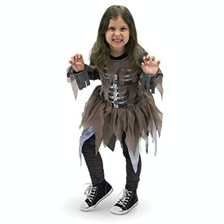 Boo! Inc. Hungry Zombie Children's Girl Halloween Dress Up Roleplay - Zombie Dress Halloween