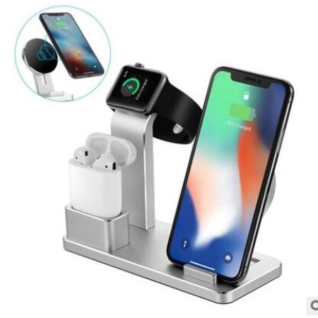 4-in-1 Multi-Function Desktop Charging Stand For iWatch Smartphone Airpods Wireless Charger Charging Station for Cell Phone