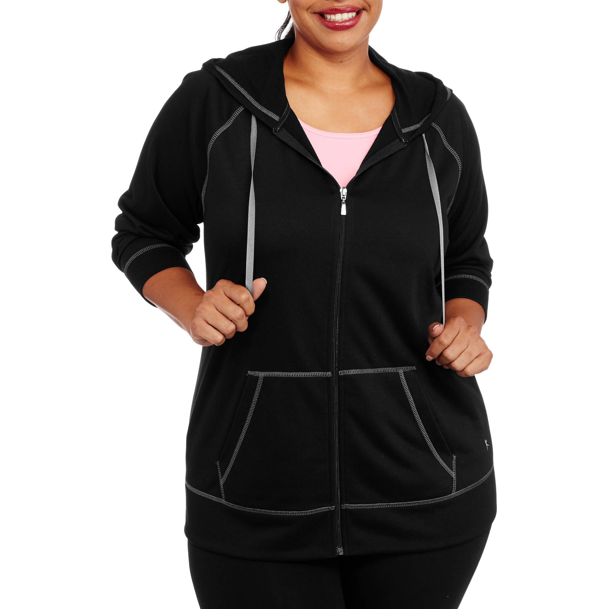 Danskin Now Women's Plus French Terry Hooded Jacket