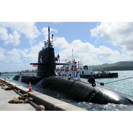 LAMINATED POSTER Japan Maritime Self-Defense Force (JMSDF) submarine Hakuryu (SS 503) visits Guam for a scheduled por Poster Print 24 x 36