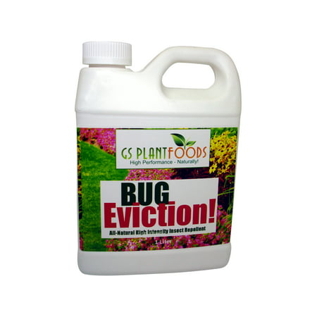 Bug Eviction - Organic Garden Pest Control, Natural Pest Killer Pesticide for Garden Plants, Vegetable, Evicts Moth, Caterpillars, Aphid, Earwigs - Organic Pest Control - 1 Quart of Concentrate Pest Control Earwigs