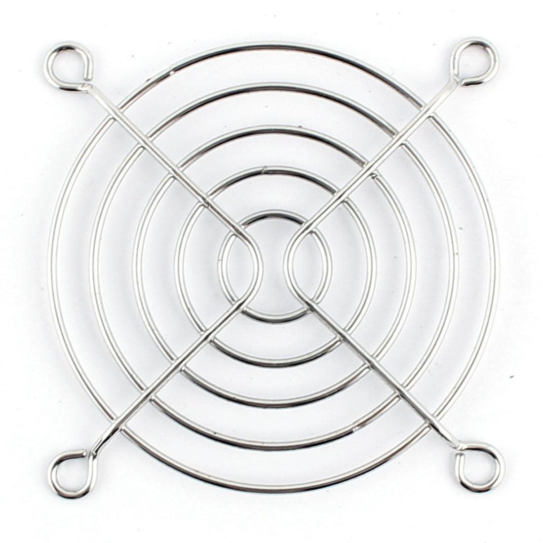Metal Pc Computer Case Fan Grill Finger Guard Protector Silver Tone