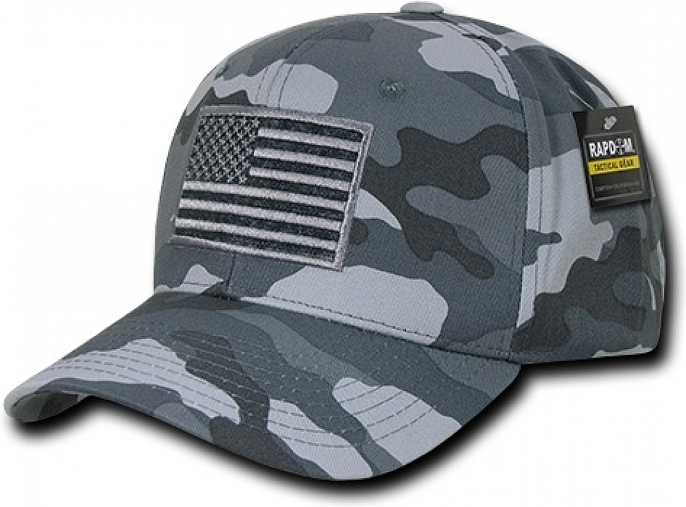 RapDom USA Structured Small Rubber Flag Mens Cap