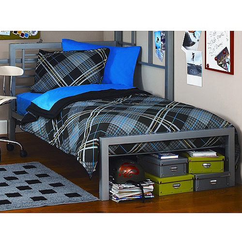 your zone twin metal loft bed multiple colors walmartcom - Metal Bed Frames Twin
