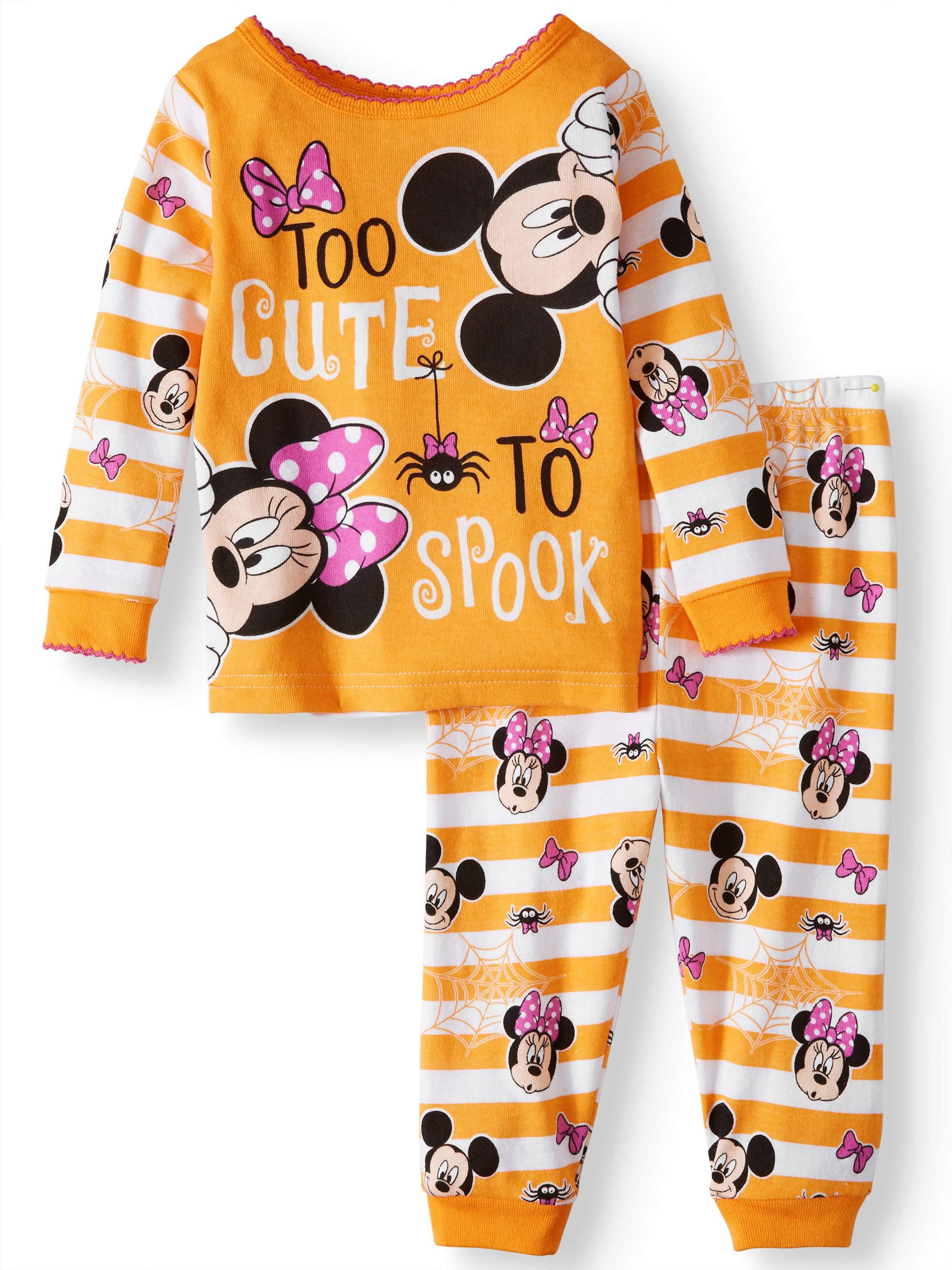 Baby Girls' Halloween Glow-in-the-Dark Cotton Tight Fit Pajamas, 2-Piece Set
