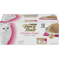(12 Pack) Fancy Feast Grain Free Pate Wet Cat Food, Chicken Feast, 3 oz. Cans