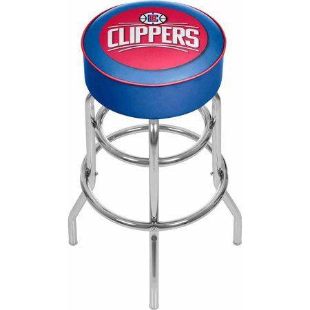 "Trademark Global NBA Los Angeles Clippers 31"" Padded Swivel Bar Stool by"