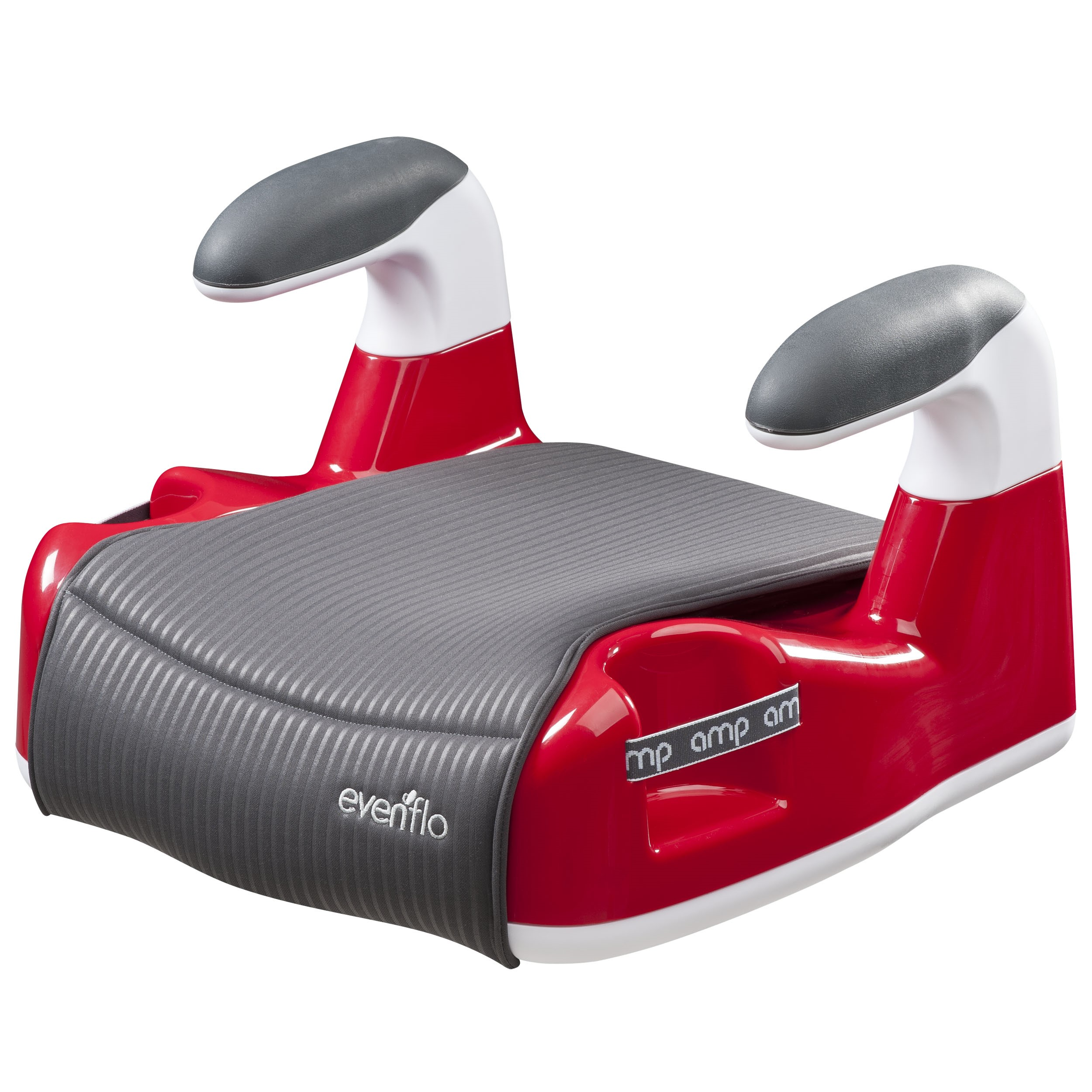 Evenflo AMP Performance DLX No Back Booster Car Seat, Red