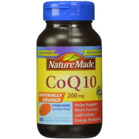 Nature Made CoQ10 Tabletas Liquidas 4 Frascos de 40 Caps cada uno