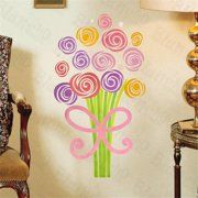 HL-1322 Colorful Bouquet - Wall Decals Stickers Appliques Home Decor