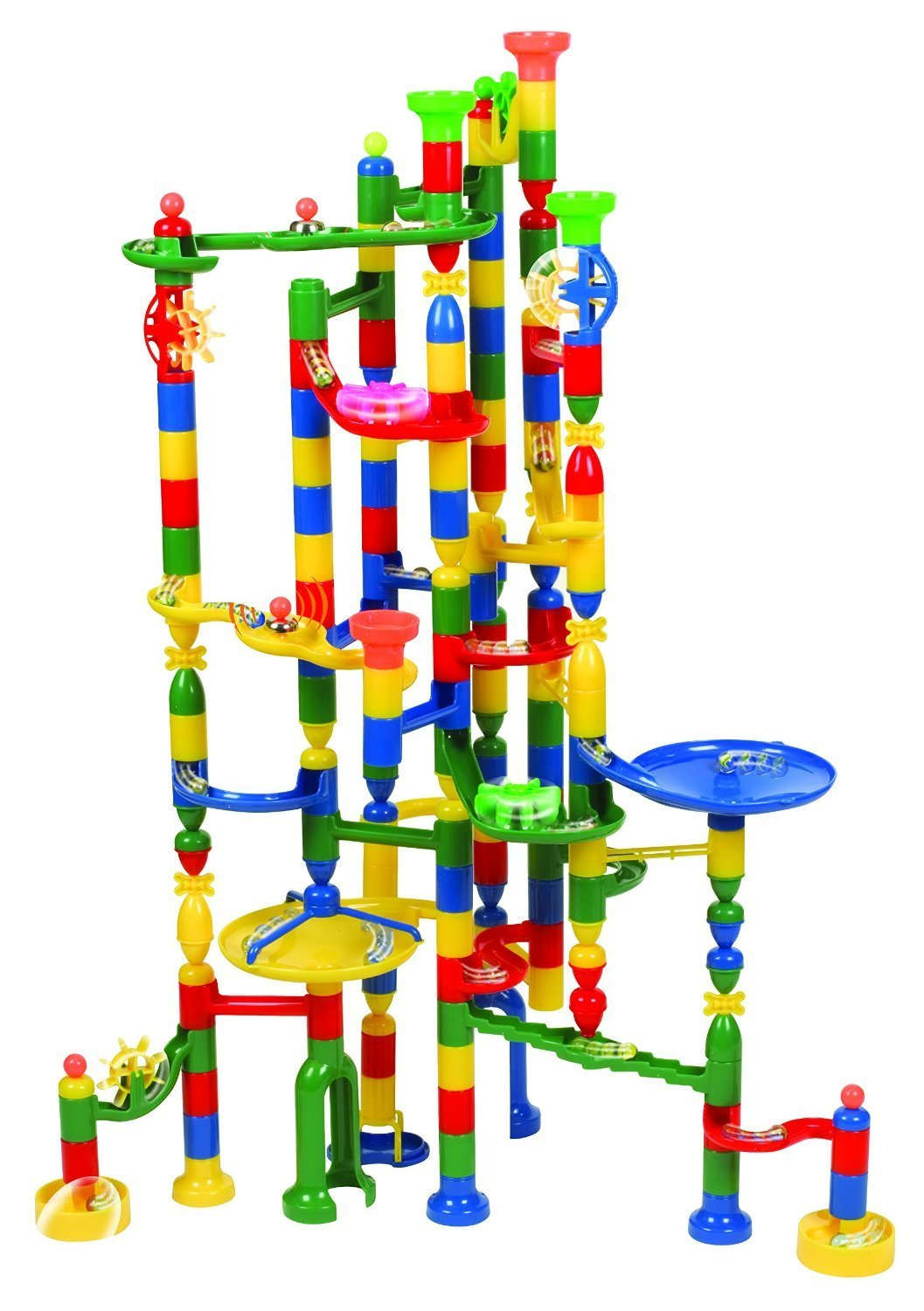 Edushape Marbulous Marble Run Track Set 202 Pieces + 50 Marbles STEM Learning Toy, Educational Construction... by