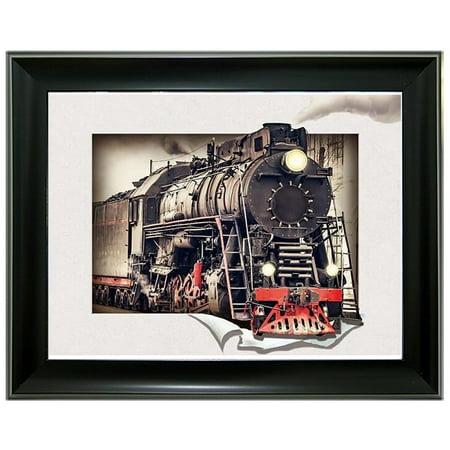 Train Framed 3D Lenticular -
