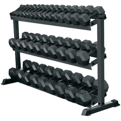 York Barbell 3-Tier Pro-Hex Dumbbell Rack by York Barbell