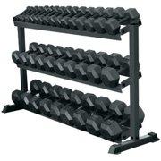 York Barbell 3-Tier Pro-Hex Dumbbell Rack