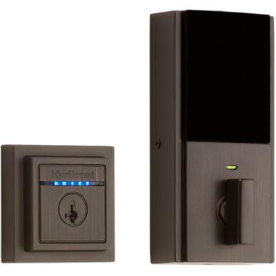 Kwikset Kevo Touch-to-Open Contemporary Smart Lock, 2nd Gen featuring SmartKey Security? in Venetian Bronze