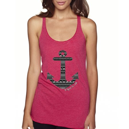New Way 104 - Women's Tank-Top Refuse To Sink Anchor Aztec