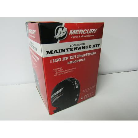 Mercury Outboard Shop Manual - OEM Mercury 100 Hour Maintenance Kit for 150HP EFI FourStroke Outboard 8M0094232