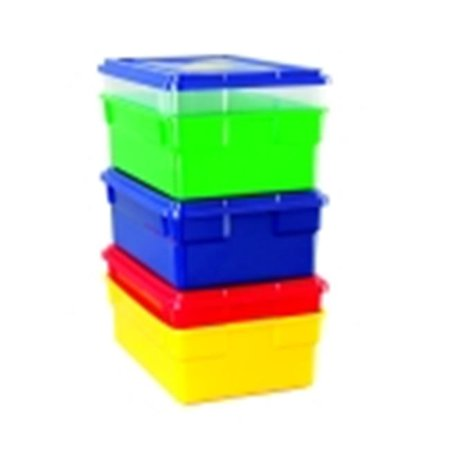 School Smart 16 L x 6 D x 11 W in. Storage Box With Lid, Yellow](Yellow Boa)