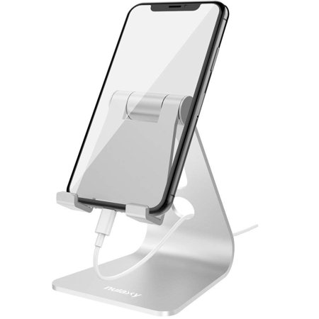 97cd49090be64a Nulaxy Adjustable Phone Stand, Multi-Angle Cell Phone Holder, Cradle, Dock,  Stand Compatible with iPhone ...