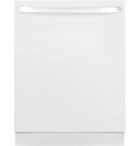 "GE GLDT690JWW 24"" Top Hidden Control Tall Tub Built-In Dishwasher with Stainless Steel White"